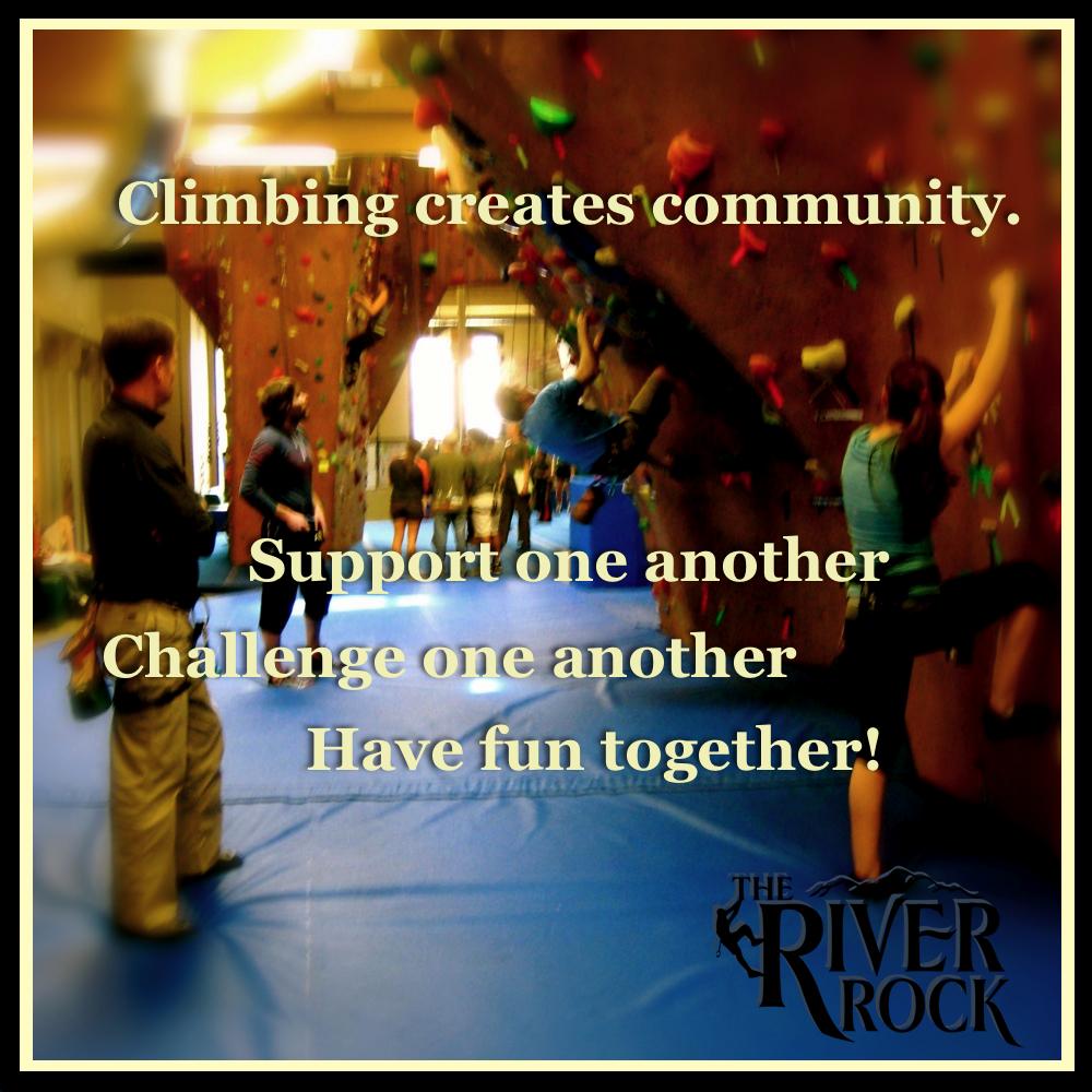 Climbing creates community